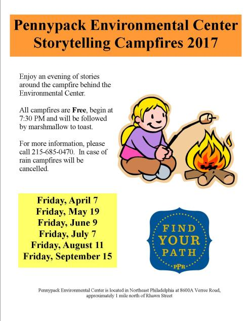 camp fire flier